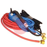CK-CK2025SFFX CK20 Flex Head Water Cooled 250 amps Tig Torch with 8m Superflex Cables & 3/8