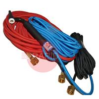 CK-CK2312SFFX CK 230 2 Series Water Cooled 300 amps Tig Torch With 4m Superflex Cables. 3/8