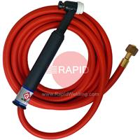 CK-CK2625RSFRG CK26 Gas cooled 200 amp Tig Torch with 1pc 8m Superflex Cable. 3/8 BSP