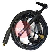 CK-CK9V-4M-2FX25 CK 9V Tig Torch With Gas Valve.Gas Hose 3/8
