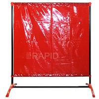 DF2004X6 Welding Curtain with Frame 1.4m (4ft 8) Wide x 1.9m High EN1598