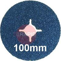 DZ10016XX 100mm Resin Bonded Fibre Discs, Zirconium, 16 mm Bore, Box of 25