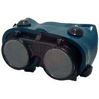 E2GFU1 Flip Up Green Welding Goggles. 50mm Diameter Lens 5EW