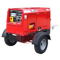 ECO300 Shindaiwa Eco 300 UK Diesel Driven 8kVA Welder Generator with Road Trailer