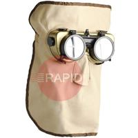 EF813000 Leather 30cm Mask with Flip Up Goggles ( Monkey Mask )