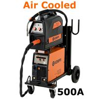 FastMig500Basic Kemppi FastMig 500 Basic, Air Cooled Package with MF33 Wire Feeder, PM500 Undercarriage and Interconnection Cable Option. 400v 3ph CE