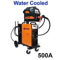 FastMig500Wbasic Kemppi FastMig 500W Basic, Water Cooled Package, with MF33 Wire Feeder, Fastcool 10, PM500 Undercarriage and Interconnection Cable Option. 400v 3ph CE