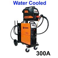 Fastmig300Wbasic Kemppi FastMig 300W Basic, Water Cooled Package, with MF33 Wire Feeder, Fastcool 10, PM500 Under Carriage and Interconnection Cable Option, 400v 3Ph CE