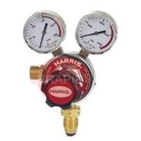 H1011 Harris Acetylene Regulator 801 Single Stage Two Gauge Regulator 1.5 Bar, 5/8