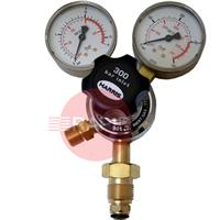 H1015 Harris 801 Inert Gas Regulator 10 Bar Single Stage Two Gauge Regulator 10.0 Bar, 5/8