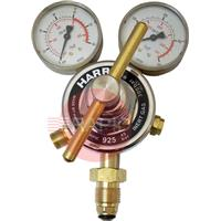 H1088 Harris 925 Inert Gas Single Stage Two Gauge Heavy Duty Regulator 40.0 bar, 5/8