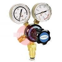 H1104 Harris Regulator 801B, Oxygen, Single Stage Two Gauge, Bottom Entry, 10bar, 5/8