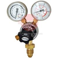 H1106 Harris 901 Single Stage 2 Gauge Argon Regulator 15 lpm, 5/8