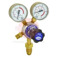H1109 Harris 801B Oxygen Regulator Single Stage Two Gauge 4.0 Bar, 5/8