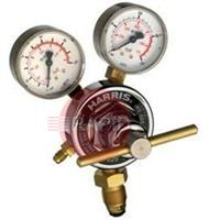 H1385 Harris 925 Inert Gas Regulator 10 Bar, Single Stage Two Gauge Heavy Duty 300 Bar Inlet, with Flair Nipple Outlet