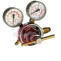 H1393 Harris 925 Inert Gas Regulator 50.0 Bar Side Entry, Single Stage Two Gauge Heavy Duty, Flair Nipple Outlet