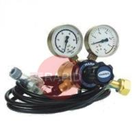 HarrisHTNV Argon Mix NEVOC Heated Shielding Gas Regulators 30 l/min, W30x2 Nevoc RH Cylinder Connection, 3/8