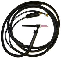 K10513-17-4V Lincoln LT 17 GV, 4m air cooled Tig Torch, 140A-DC/100A-AC@35%, 35-50 Dinse