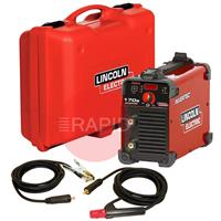 K12035-1-P Lincoln Invertec 170 S Ready To Weld Suitcase Package With Arc Cables 230v