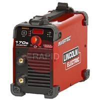 K12035-1 Lincoln Electric Invertec 170S Inverter Arc Welder 1ph 230v. Digital Display