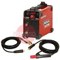 K12035-1P Lincoln Invertec 170S 230V Arc Welder, Ready to Weld Package With Cable Set