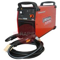 K12039-1 Lincoln Electric Tomahawk 1538 Plasma Cutter 7.5M Hand Torch. 3ph 35mm Cut 50mm Severance Capability. 3 Year Warranty  400V CE.