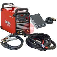 K12054-1CKP Lincoln Invertec 170TX Tig Welder, Ready to Weld Package with CK 17 4m Tig Torch, Foot Pedal & Earth, 230v 1ph