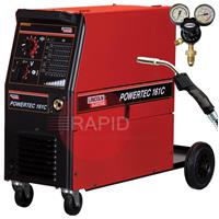 K14040-2P Lincoln Electric Powertec 161C Mig 150A, 230v, Ready to Weld Package