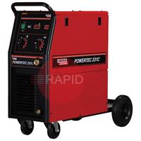 K14046-1 Lincoln Powertec 231C Mig Welder Power Source 220 amp 1ph 230v.