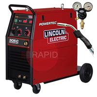 K14056-XP Lincoln Electric Powertec 305C, 400v 3 Phase Mig - Ready to Weld Package