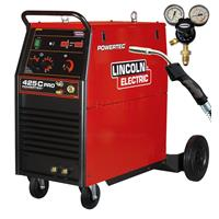 K14059-1WP Lincoln Powertec 425C PRO 400v 3 Phase Mig Welder, Water Cooled Ready to Weld Package
