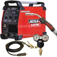 K14098-1P Lincoln Speedtec 180C 200A Mig Welder, with Mig Torch & Earth Clamp, 230v