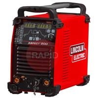 K14189-1 Lincoln Aspect 200 AC/DC TIG Welder Power Source - 115v / 230v, 1ph
