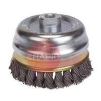 LES482817 65MM X M14 S/STEEL TWIST KNOT CUP BRUSH