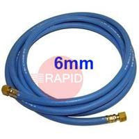 OXYLTHOSE6MM 6MM Lightweight Oxygen Hose Fitted with 1/4