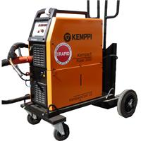 P1120 Kemppi Kempact Pulse 3000 Water Cooled Package. Comes with PMT 30W 3M Kemppi Torch Set Up for Aluminium. Earth Cable & Gas Hose. Kemppi P20 Wheel Kit with Cylinder Carrier. 400V CE