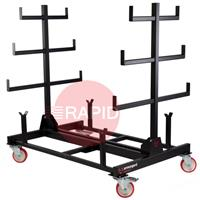 PR1 Armorgard Mobile Collapsible Pipe Rack, certified 1 tonne capacity