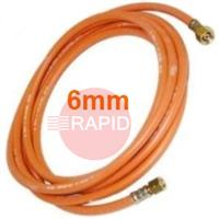 PROHOSE6MM 6MM Standard Propane Hose Fitted With 3/8