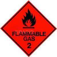 REDSIGN FLAMMABLE GAS VAN STICKER 100 x 100mm