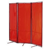 RF244AMB Tusker RF Folding Frame Welding Screen with Safearc Amber Welding Curtain 2.44m wide x 1.83m high