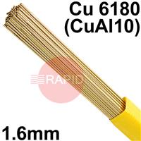 RO3216XX SIFALBRONZE No 32 90/10 aluminium bronze rod 1.6mm diameter, Cu 6180 (CuA11oFe), BS: 2901