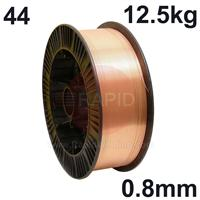 WO440812 Sifmig 44 Nickel aluminium bronze for AB2 wire 0.8mm Dia 12.5 kg Spl, ISO 24373 Cu 6328 (CuAl9Ni8Fe3Mn2), BS: 2901 C20/26