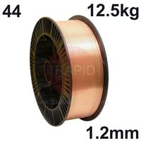 WO441212 Sifmig 44 Nickel aluminium bronze for AB2 wire 1.2mm Dia 12.5 kg Spl, ISO 24373 Cu 6328 (CuAl9Ni8Fe3Mn2), BS: 2901 C20/26