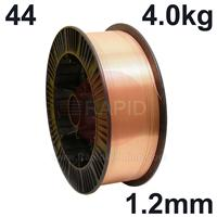 WO441240 Sifmig 44 Nickel aluminium bronze for AB2 wire 1.2mm Dia 4.0 kg Spl, ISO 24373 Cu 6328 (CuAl9Ni8Fe3Mn2), BS: 2901 C20/26