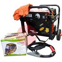 ZX35.22251 Mosa Magic Weld 200 Welder Generator Site Package with Wheel Kit, Gauntlets, Helmet & 5m Welding Leads