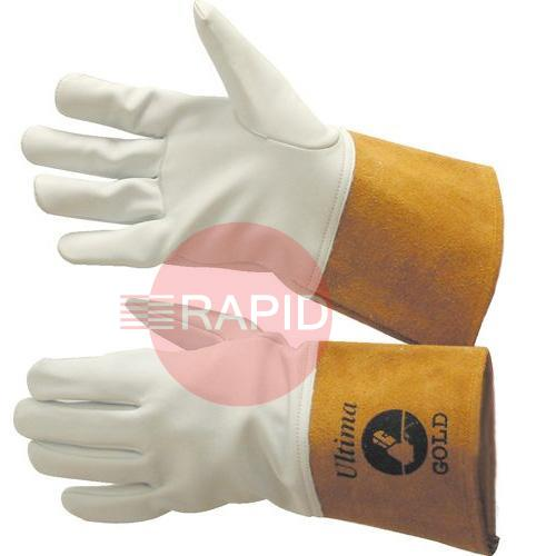 0231G  Ultima Gold Tig Gauntlets Size 10