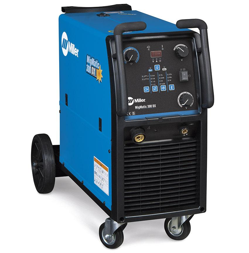 029015541P  Miller MigMatic 300 Deluxe Synergic Mig Welder Package, 400v 3ph