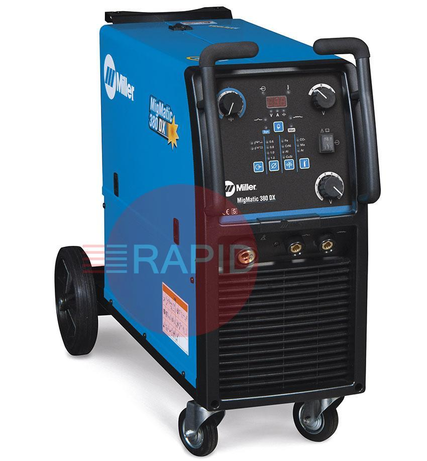 029015543P  Miller MigMatic 380 Deluxe Synergic Mig Welder Package, 400v 3ph