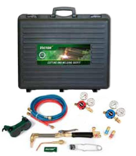 0385-0554  Victor G250 Deluxe Cutting & Welding Outfit, with Side Entry Oxy & Acetylene Regulators