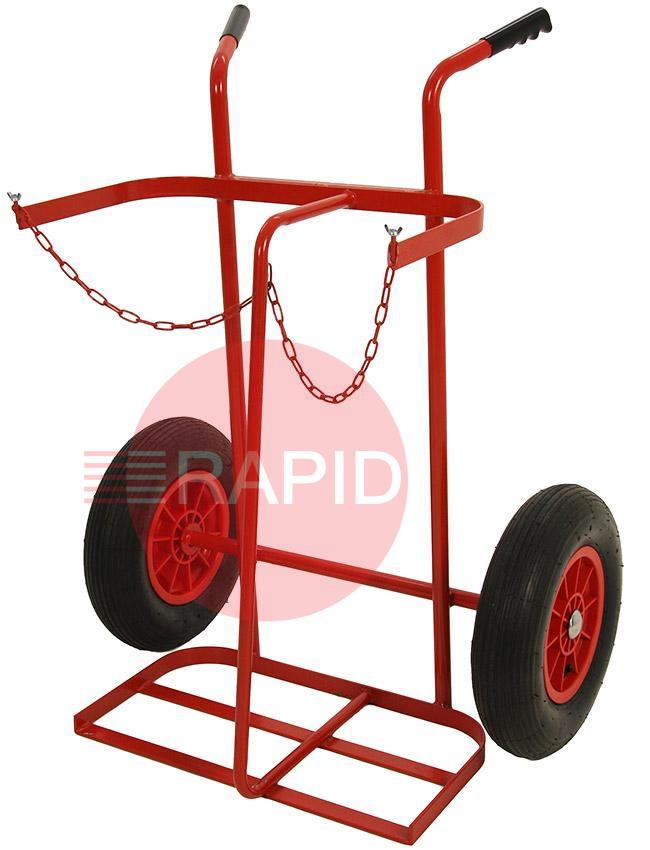 "040741B  Trolley 16"" Pneumatic Wheels Oxygen / Acetylene"